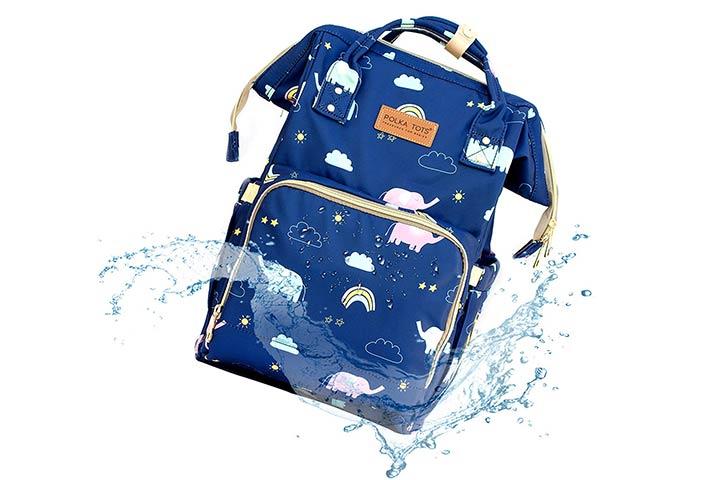 Polka Tots Waterproof Diaper Bag