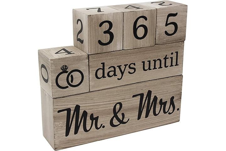 Pulse Wedding Countdown Calendar Wooden