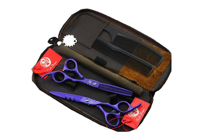 Purple Dragon Hair Thinning Shears Kit