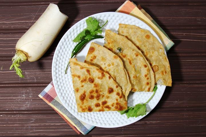 Recipe of radish paratha