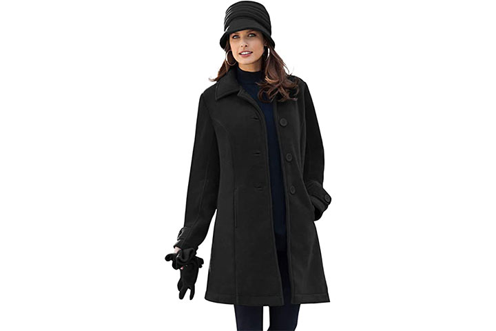 Roamans Women's Fleece Soft Coat