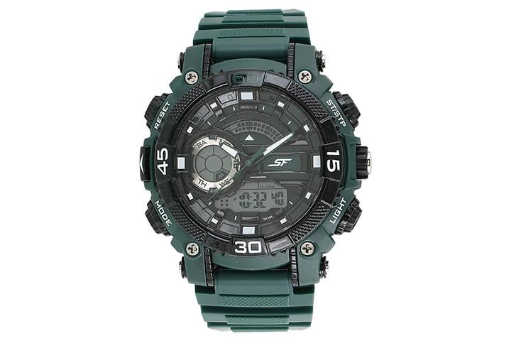 Sonata Fibre Black Dial Men's Watch