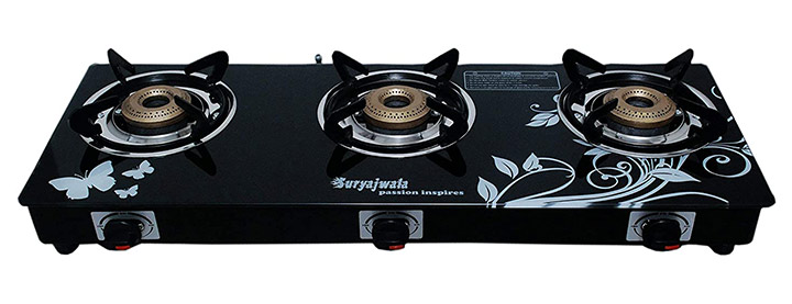 SuryaJwala Burner Gas Stove (LPG Compatible Only)