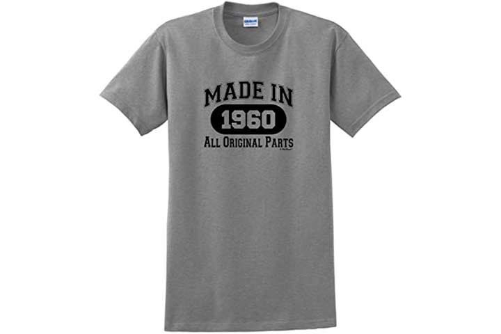 ThisWear Made 1960 All Original Parts T-Shirt