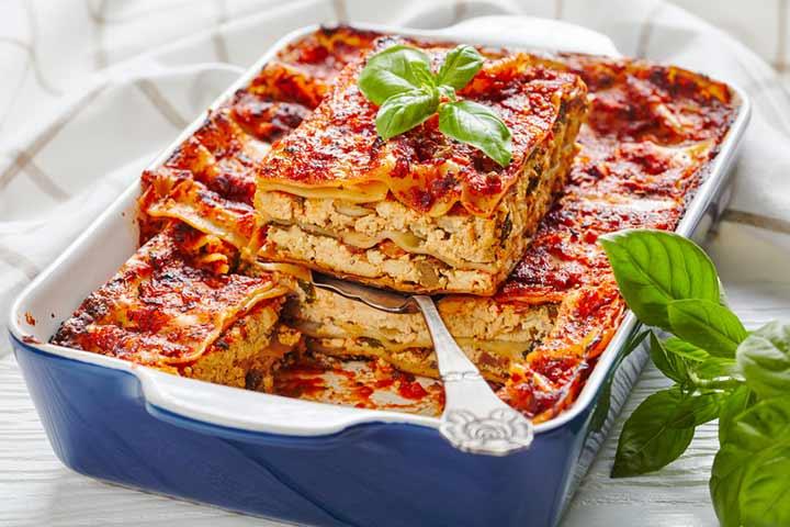 Tofu lasagna