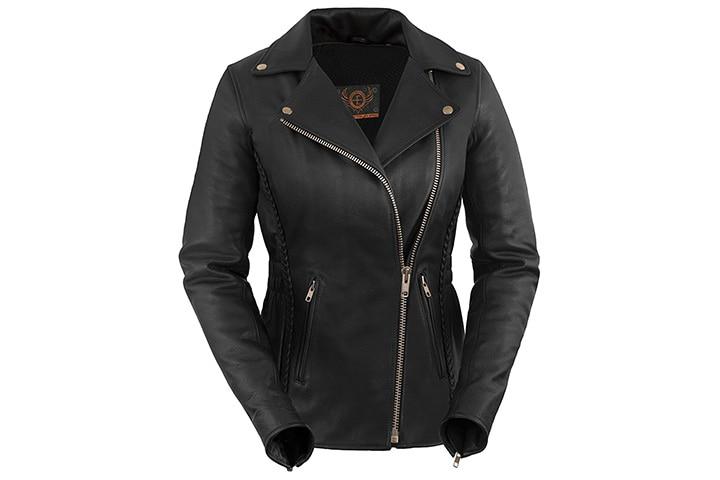 True Element Motorcycle Leather Jacket