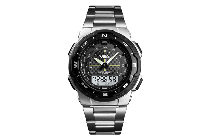 V2A Black Dial Men's Watch