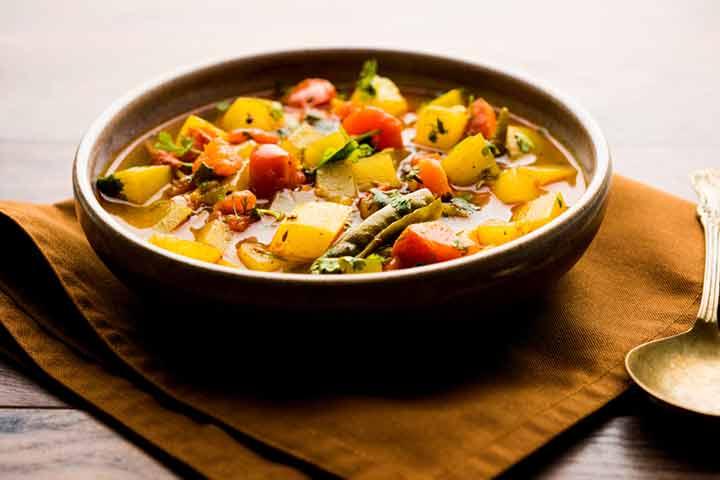Veggie delight soup
