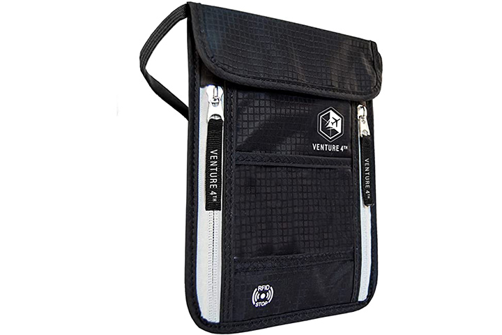 Venture Travel Neck Pouch with RFID Blocking