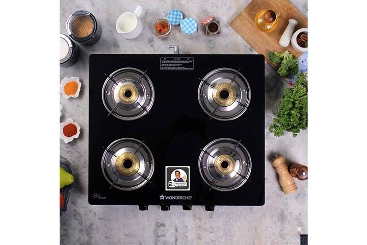 Wonderchef Power Glass Top Gas Stove