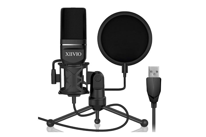 XIIVIO Plug and Play Computer PC Microphone Mic