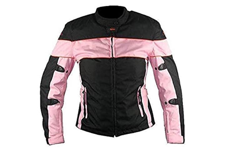 Xelement Women's Pinky Black Motorcycle Jacket