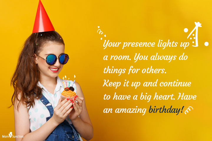 Your presence lights up a room