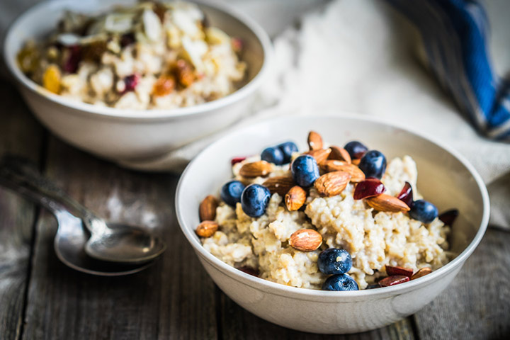 Slow cooker blueberry oatmeal