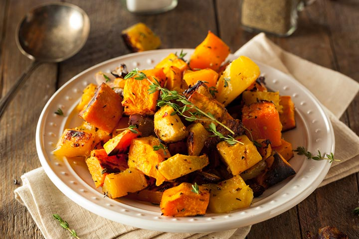 Pot roasted root vegetables