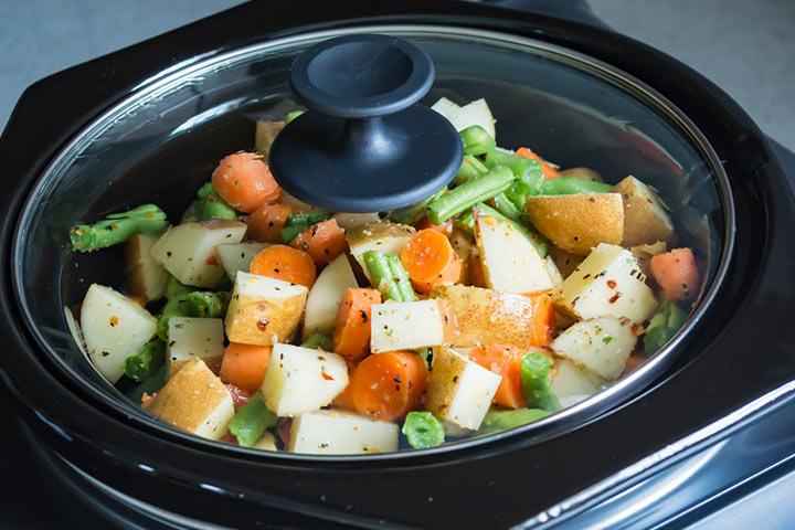Slow cooker veggie delight