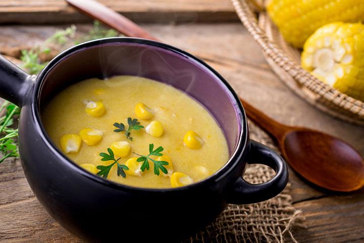 Slow cooker poblanos corn soup