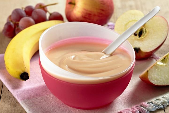 Apple banana grapes puree