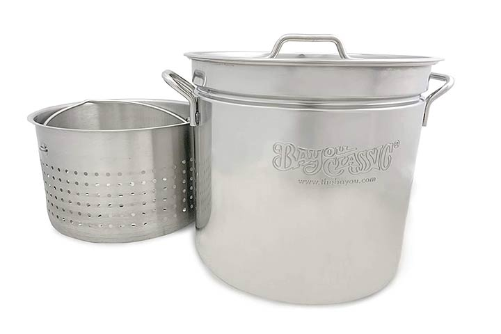 Bayou Classic Stainless Stockpot With Basket