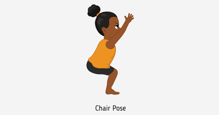 Chair pose or Utkatasana