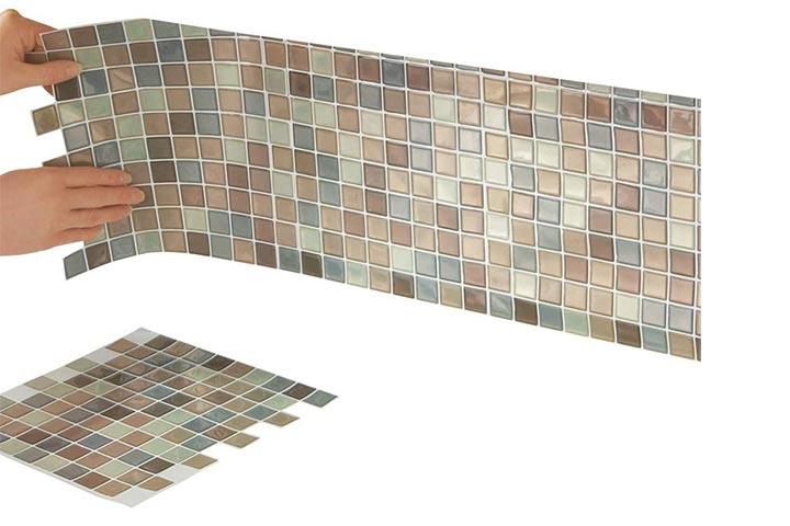 Collections Etc Peel-And-Stick Backsplash Tiles