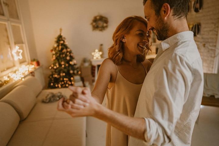 Dancing together on Christmas