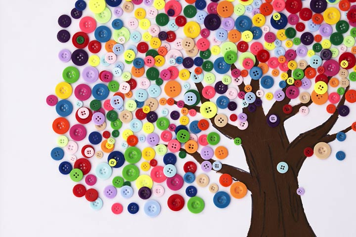 Earth Day button tree