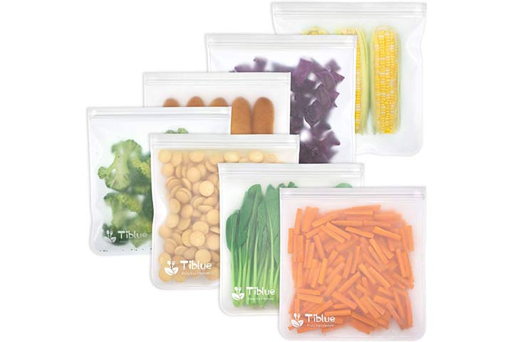 EcoLifeMate Reusable Silicone Food Storage Bags