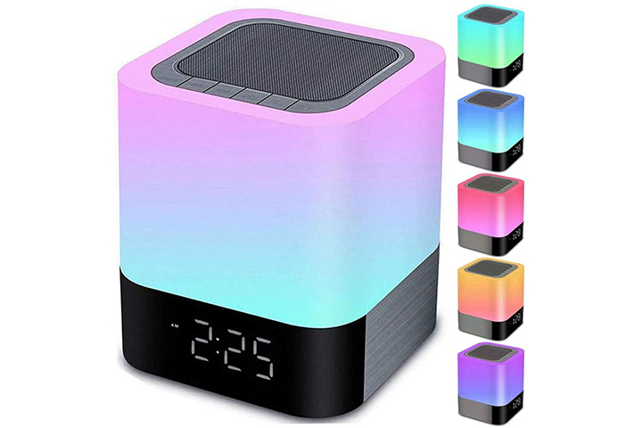 Gallstep Alarm Clock With Bluetooth speaker