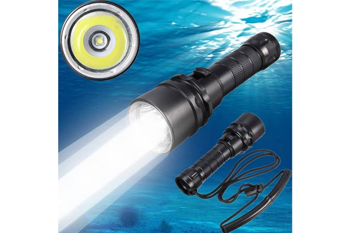 Goldengulf Cree LED Scuba Diving Flashlight