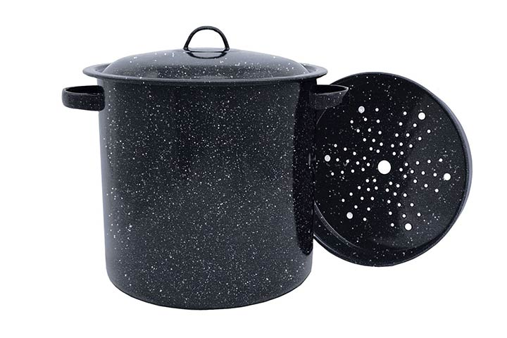 Granite Ware Tamale Pot with a Steamer Insert