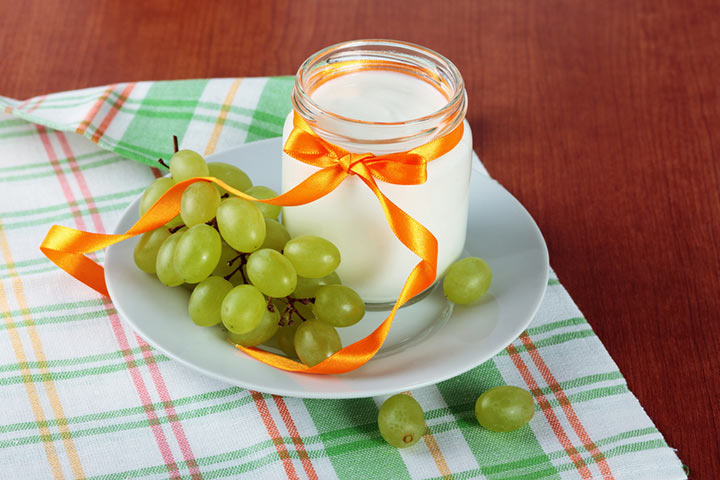 Grape and Greek yogurt
