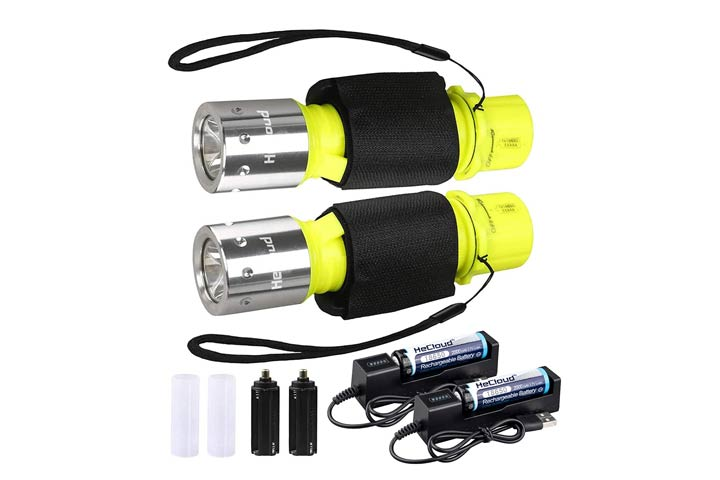 HECLOUD Professional High Lumens Diving Flashlight