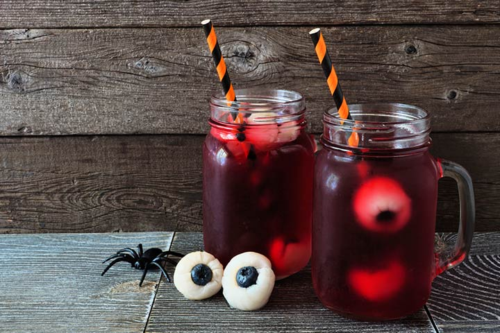Halloween punch with eyes