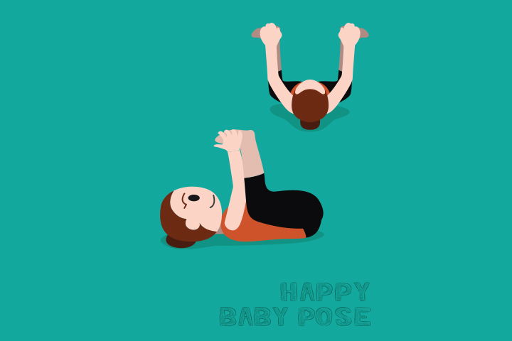 Happy baby pose or Ananda Balasana