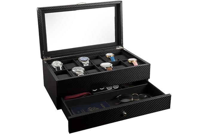 Hauterow Watch Display Case and Organizer