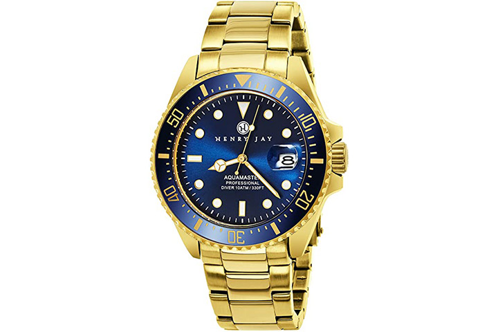 Henry Jay Men's Professional Dive Watch
