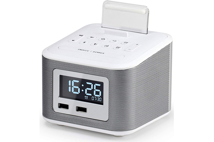Homtime Bluetooth Alarm Clock Radio Speaker