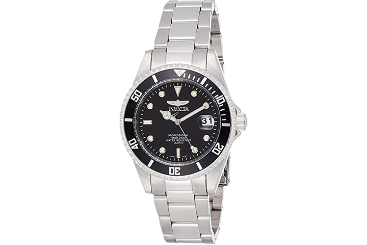 Invicta Men's Pro Diver Stainless Steel Watch with Coin Edge Bezel