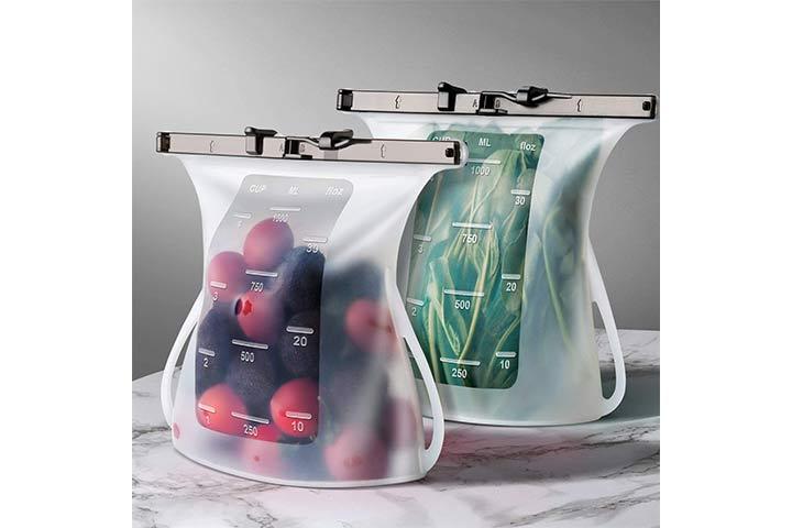 Jomarto Reusable Silicone Food Storage Bags
