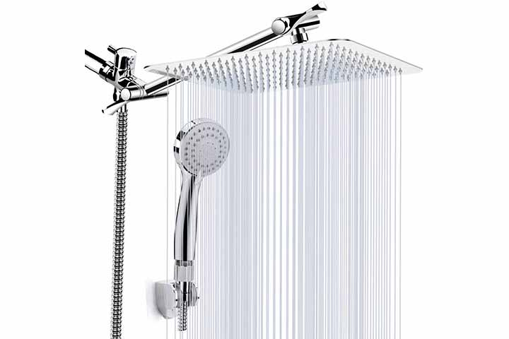 KAQINU Luxury Rainfall Shower Head Combo