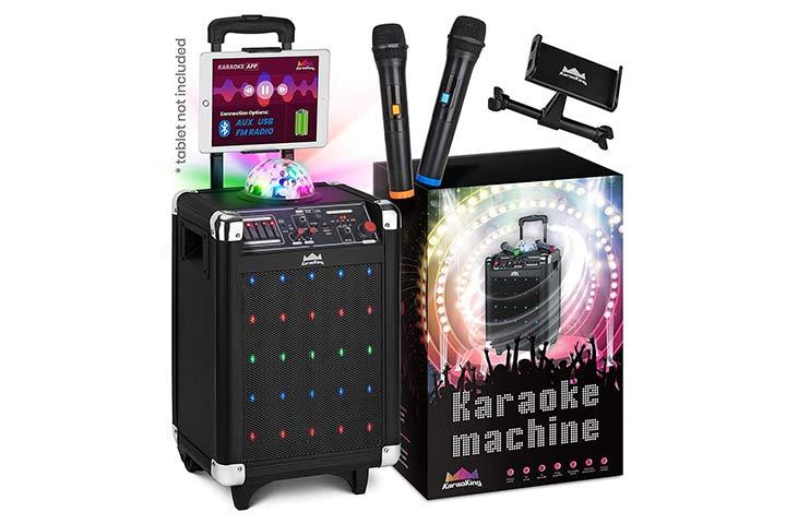 KaraoKing Karaoke Machine With Wireless Microphone Speaker