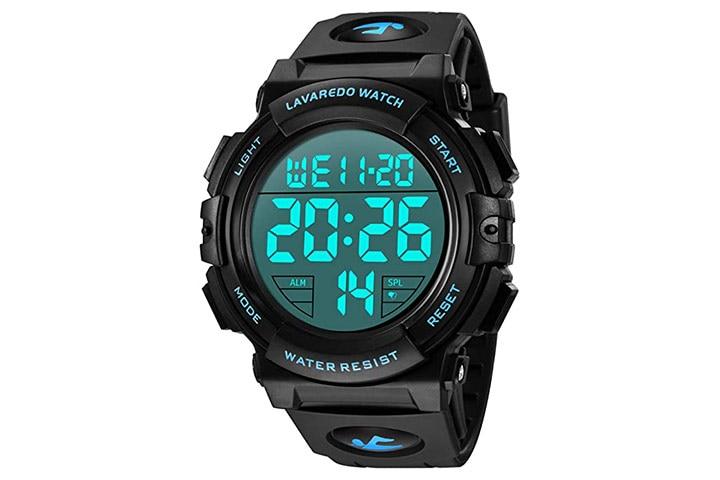 L LAVAREDO Men's Digital Watch