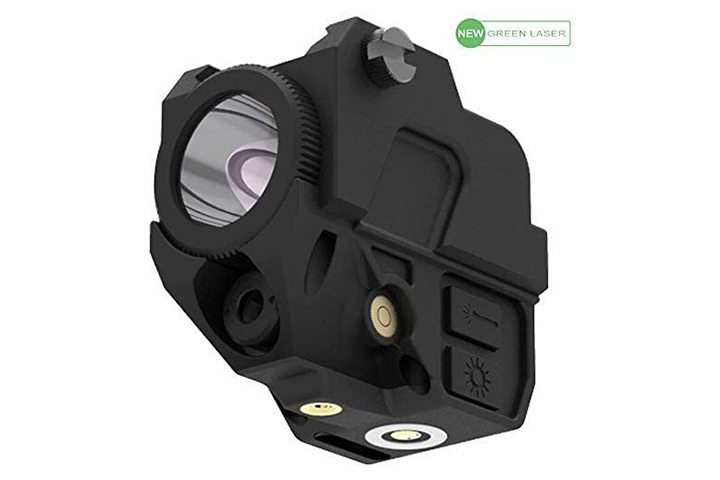 Laspur Tactical Sub Compact Rail Mount Laser Sight With Flashlight