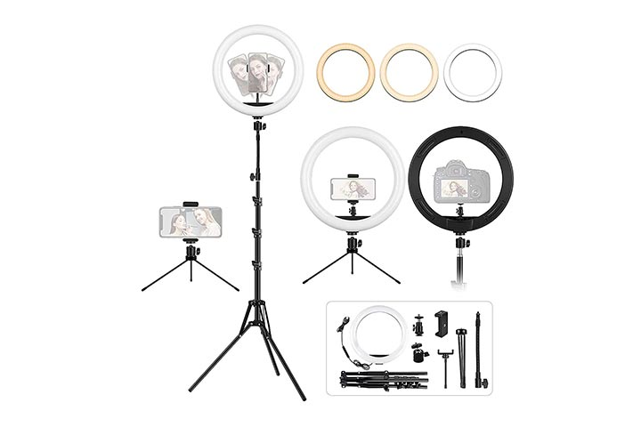 Lipety 12.6 Ring Light With Tripod and Desk Stand
