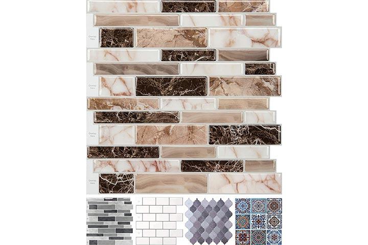 Longking Peel-And-Stick Backsplash Tiles