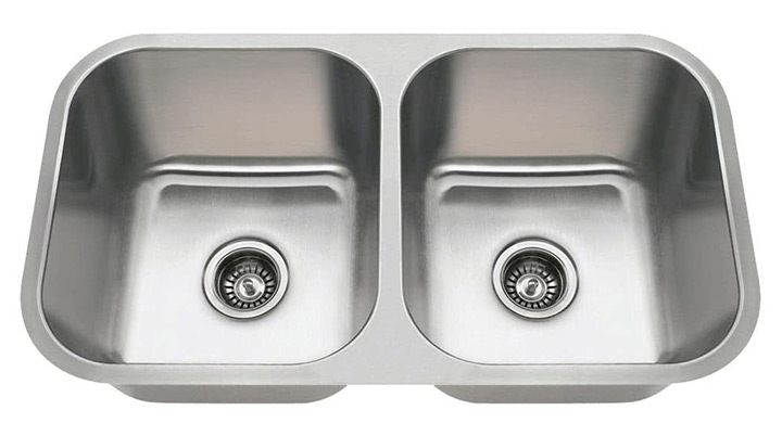 MR Direct Double Bowl Undermount Kitchen Sink