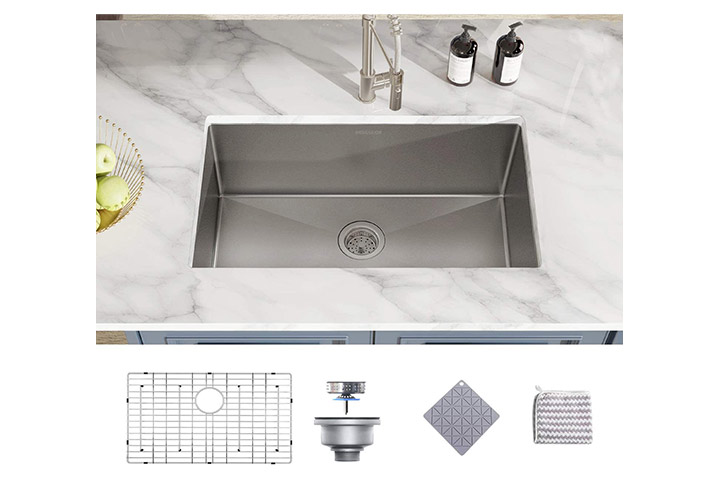 Mensarjor Single Bowl Undermount Kitchen Sink