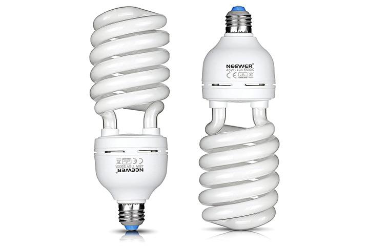 Neewer 45 Watt Spiral CFL Daylight Balanced Light Bulb