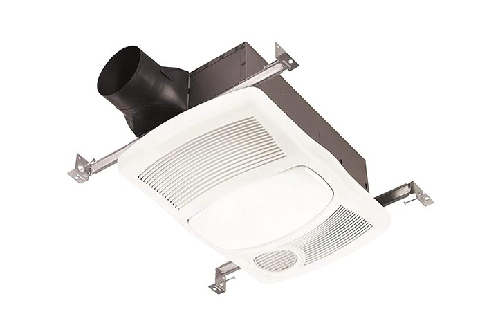 NuTone Bathroom Ceiling Fan With Light And Heater - 80 CFM